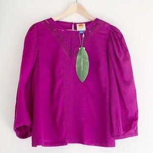 Anthropologie farm rio kelsie cotton blouse